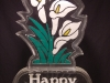 Happy Easter With Lilies (Colored Sand)