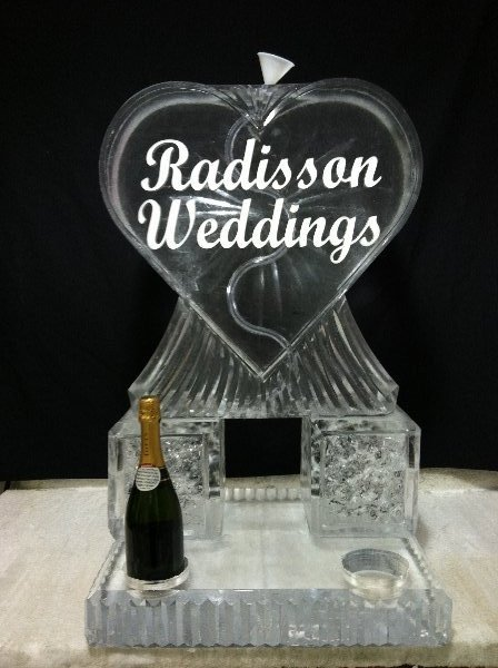 Heart Tube Luge with Bottle Holders