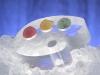 Painter\'s Pallet Sorbet Dish