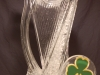 Irish Harp with Shamrock