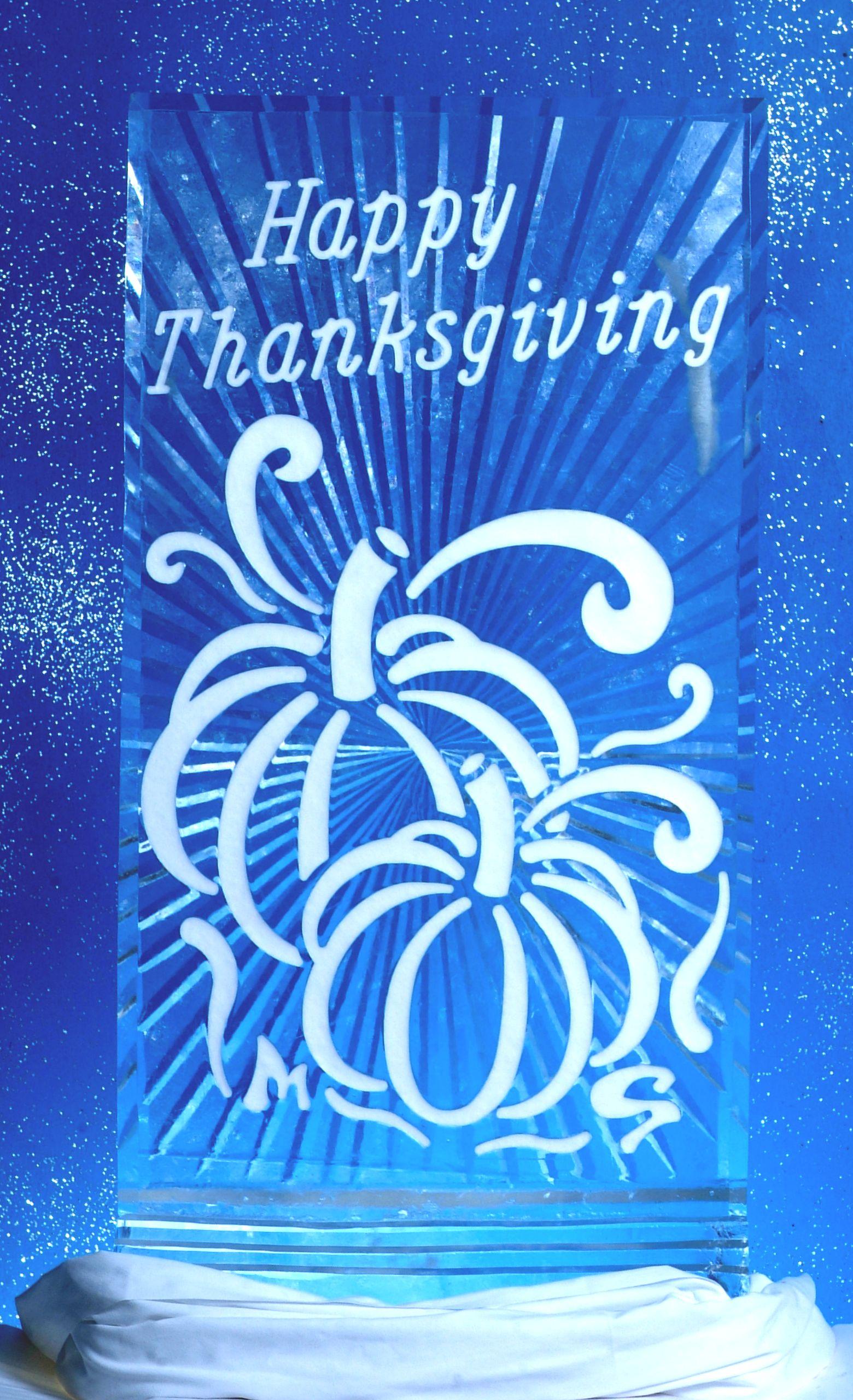 Thanksgiving Pumpkins in Snowfill
