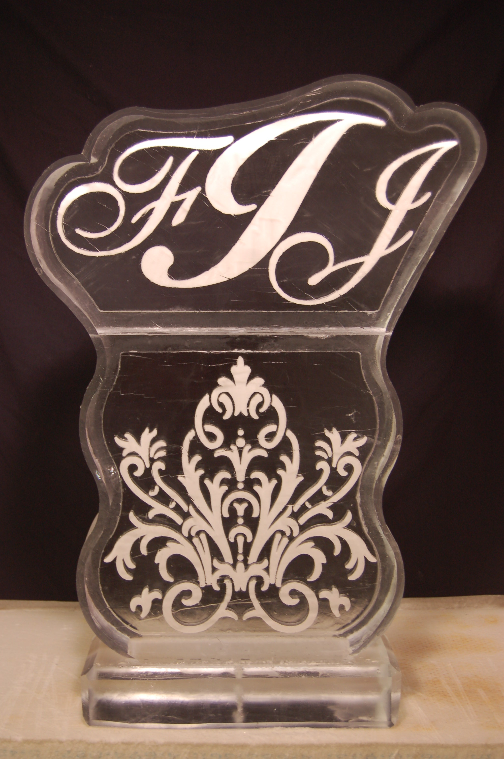 Monogram With Floral Design