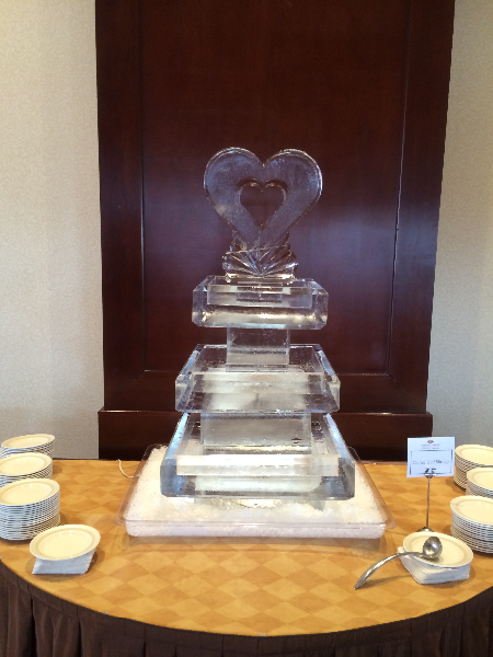 Three Tier Tray with Heart