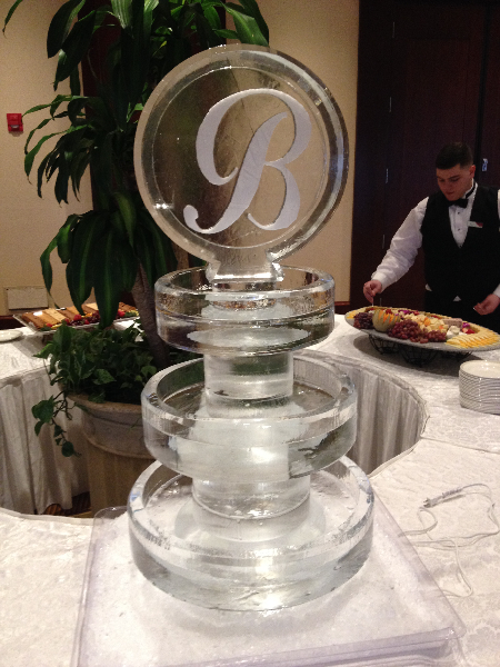 Three Tier Round Tray with Monogram