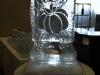 Custom Monogram Pumpkin Snowfill Tube Luge
