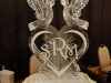 Kissing Doves on a Solid Heart Monogram